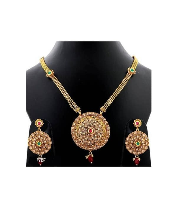 06-P-7782813-g - Exclusive Gold Plated Designer Jewellery Set