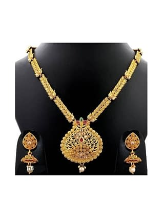 Exclusive Gold Plated Designer Jewellery Set
