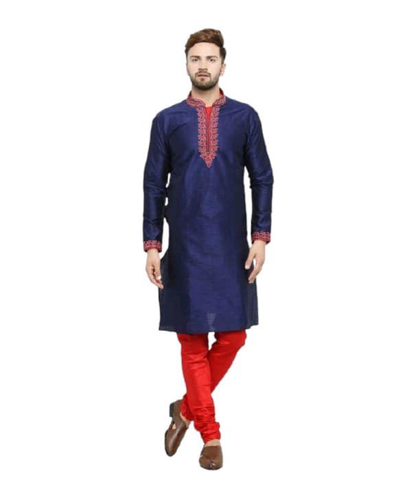 06-s-2018771-m - Men's Ethnic Fancy Jacquard Kurta Sets