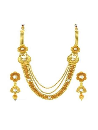 Trendy Designer Gold Plated Ethnic Jewellery Set