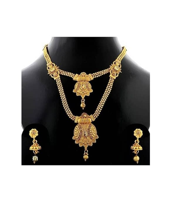 06-P-2782783-g - Trending Gold Plated Multi Layered Jewellery Set