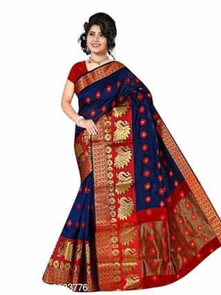 Tiya Attractive Banarasi Cotton Silk Sarees Vol 5