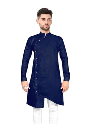Elegant Ethnic Cotton Solid Men's Kurtas Vol 2