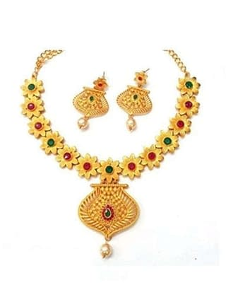 01-P-1789782-m - Traditional Alloy Ethnic Jewellery Set