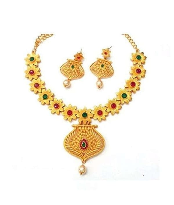 01-P-1789782-m - Traditional Alloy Ethnic Jewellery Set