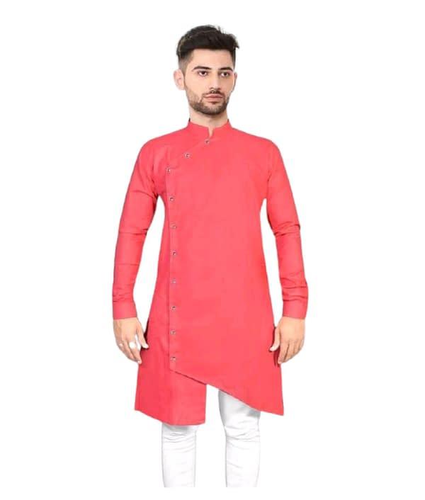 04-s-1229252-m - Elegant Ethnic Cotton Solid Men's Kurtas