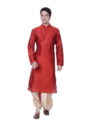 Myhra Men's Classy Cotton Blend Kurta Dhoti Sets