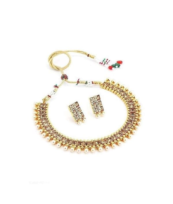 02-P-0789782-m - Traditional Alloy Ethnic Jewellery Set