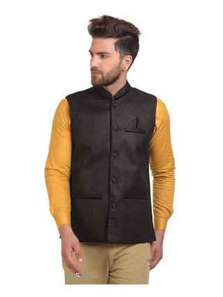 Men's Stylish Cotton Jute Blend Ethnic Jackets Vol 1