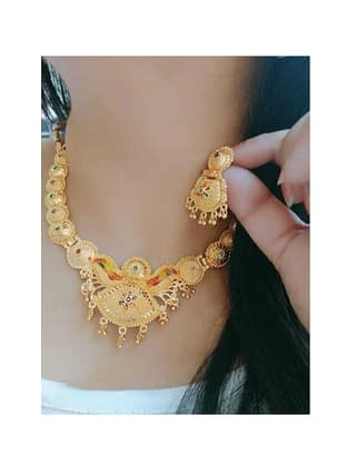 Ethnic Gold Plated Jewellery Set
