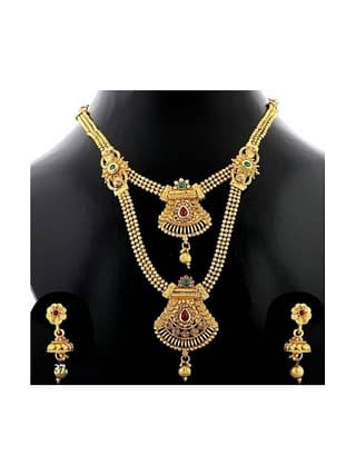 Trending Gold Plated Multi Layered Jewellery Set