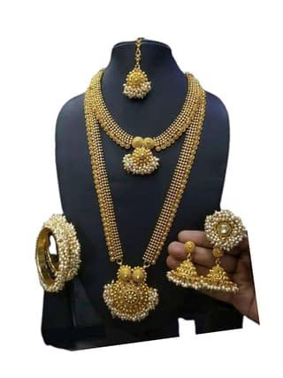 Beautiful Ethnic Gold Plated Jewellery Set