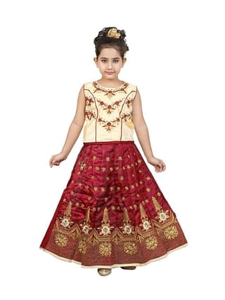 Agile Comfy Kids Girls Lehanga Cholis