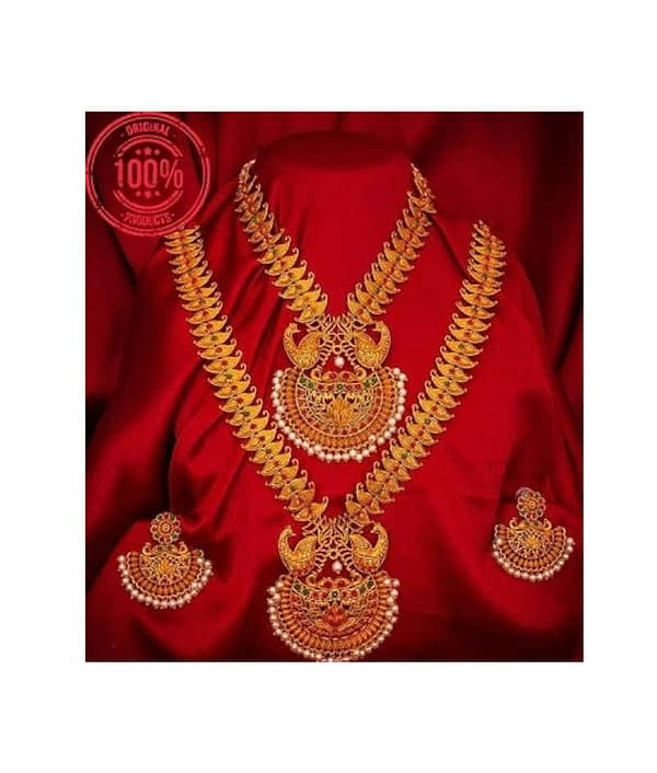 02-P-8113224-g - Beautiful Ethnic Gold Plated and Matte Finish Tem