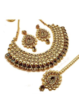 Ethnic Crystal Kundan Jewellery Set