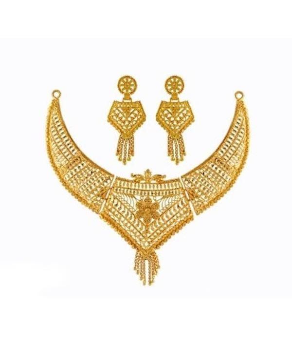 04-P-0172094-g - Beautiful Designer Ethnic Gold Plated Necklace Se