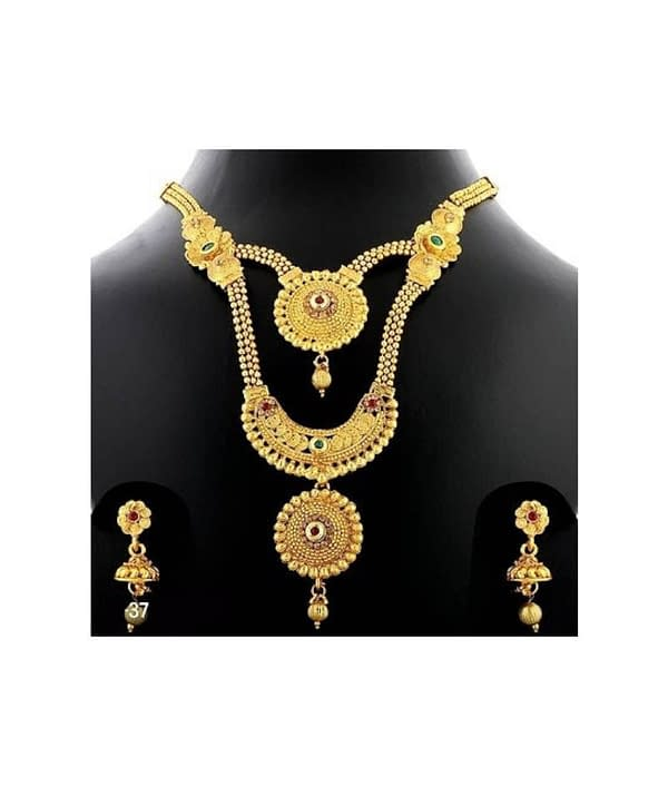 03-P-9782793-g - Trending Gold Plated Multi Layered Jewellery Set