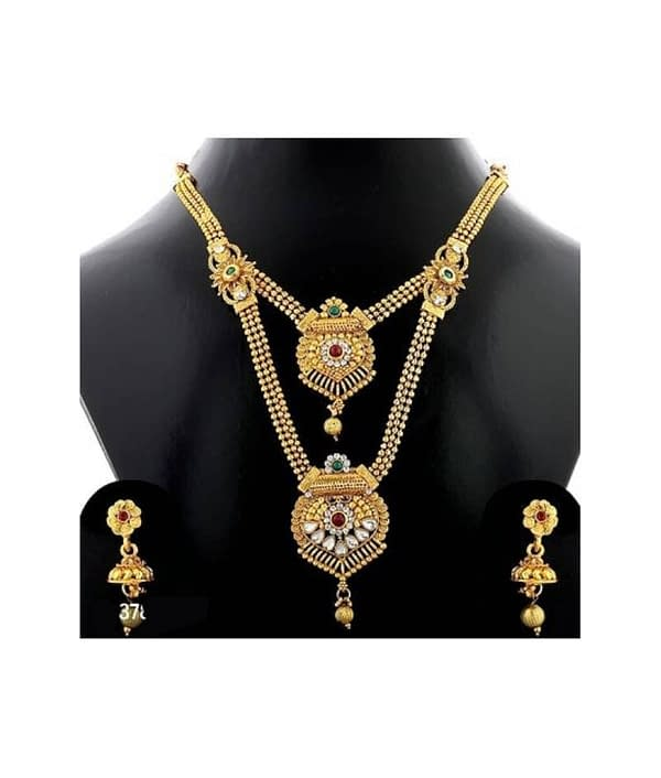 04-P-5782773-g - Trending Gold Plated Multi Layered Jewellery Set