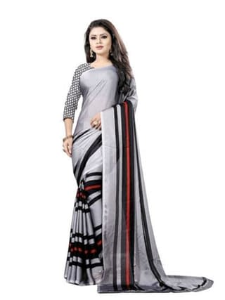 New Attractive Sarees with floral pattern