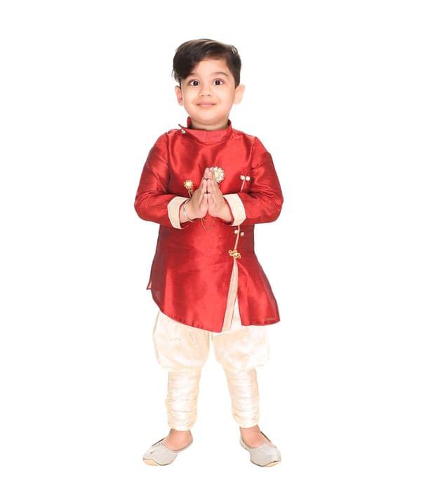 02-s-2101667-m- Cute Comfy Kids Boys Sherwanis