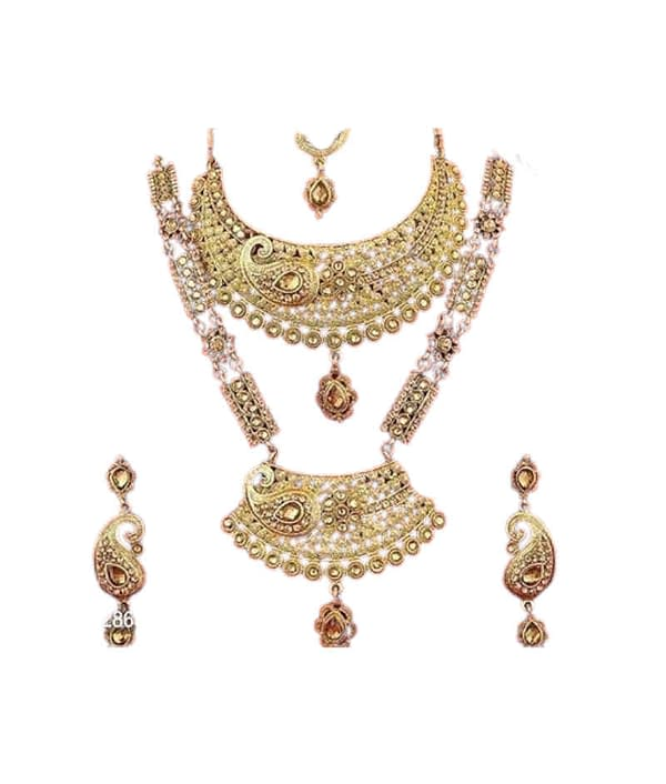 01-P-9865892-g - Beautiful Ethnic Gold Plated and Matte Finish Tem