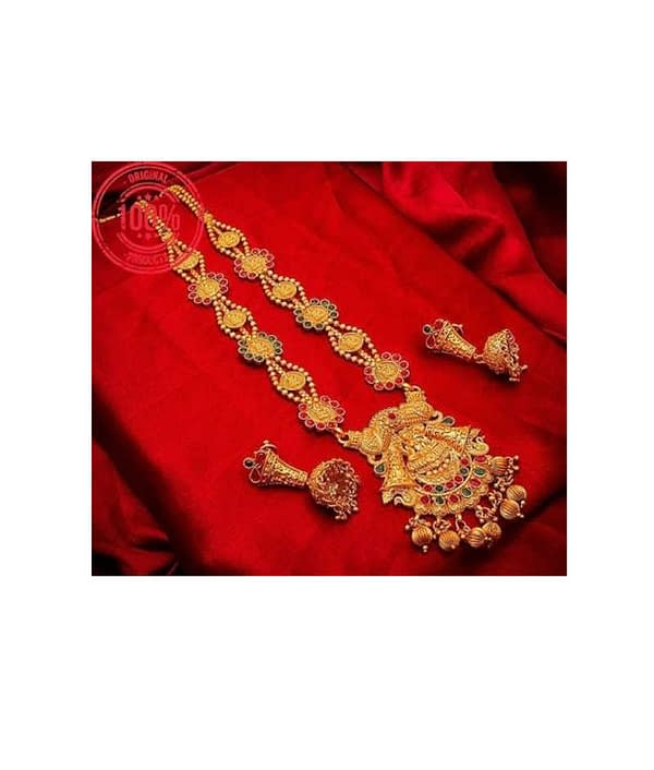 03-P-3113184-g - Beautiful Ethnic Gold Plated and Matte Finish Tem