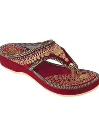 Femme Ethnic Velvet Women's Footwear Vol 5