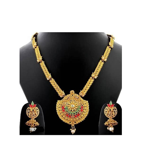 05-P-0782813-g - Exclusive Gold Plated Designer Jewellery Set