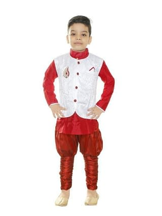 Doodle Trendy Cotton Blend Kid's Boy's Sherwani Set