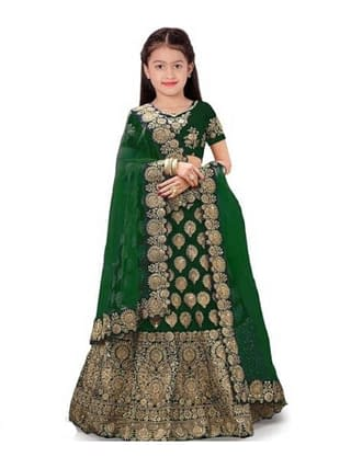Cute Trendy Kids Girls Lehanga Cholis