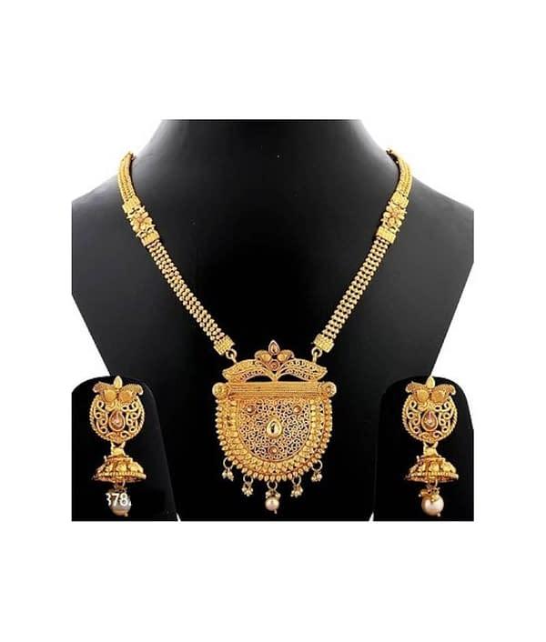 05-P-4782803-g - Gold Plated Stonework Designer Jewellery Set