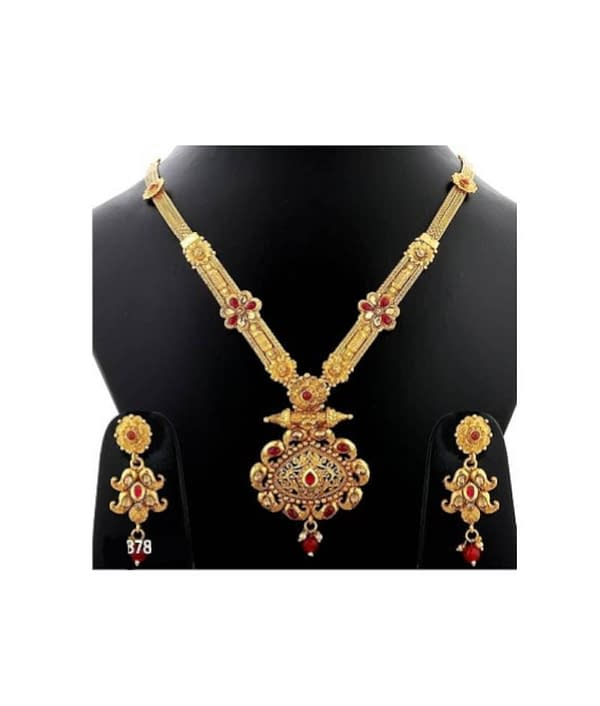 07-P-8782813-g - Exclusive Gold Plated Designer Jewellery Set