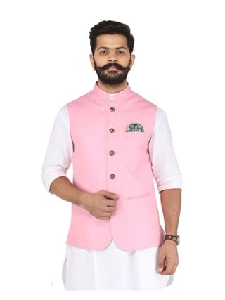 Men's Stylish Cotton Viscous Blend Printed Ethnic Jackets Vol 1